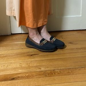 Mephisto Blue Suede Shoes